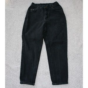 Vintage Lee Black High Waist Tapered Mom Jeans